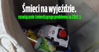 Śmieci na wyjeździe – rozwiązanie śmierdzącego problemu za 20zł.