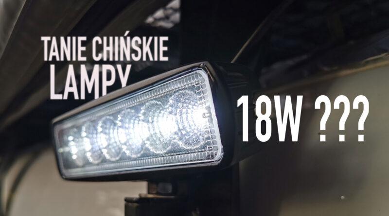 Lampy LED 18W – tanie chińskie lampy do offroadu.